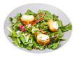 green salad with goat cheese and toasted bread