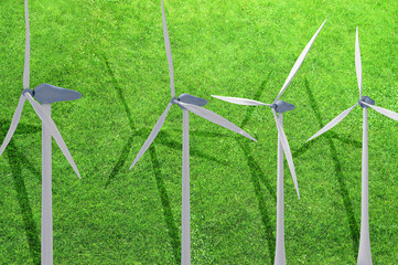 Windkraftanlage - aerodynamik design - 3D