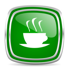 espresso glossy computer icon on white background