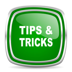 tips tricks glossy computer icon on white background