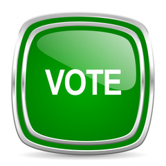 vote glossy computer icon on white background