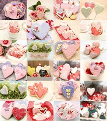 Collage galletas corazon