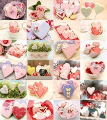 Collage galletas corazon