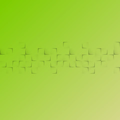 abstract green background with squares and shadow effects