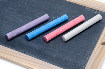 Slate with chalk sticks