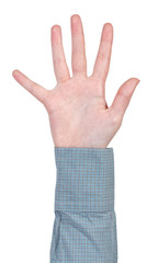 open five fingers hand gesture