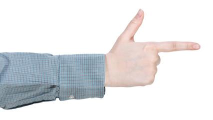 finger gun - hand gesture