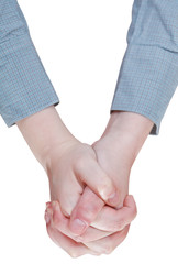 top view of clenched hands - hand gesture