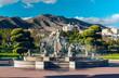 Beautiful fountain in the Battery Park. Torremolinos. Spain - 66545006