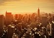 Sunset in Manhattan, New York