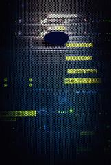 Server cover close-up