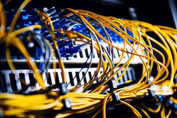 Fiber-optic equipment in a data center