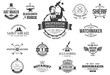 15 Retro labels for professions, business and artisans.