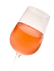 Wineglass With Pink Wine