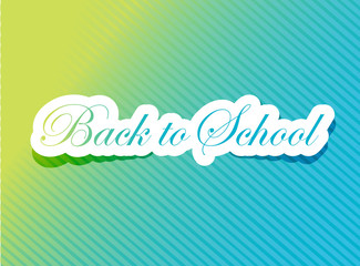 back to school card illustration design