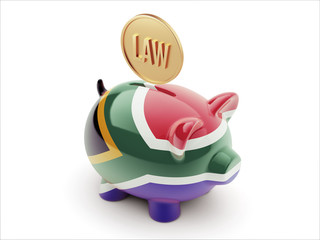 South Africa Law Concept Piggy Concept