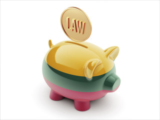 Lithuania Law Concept Piggy Concept