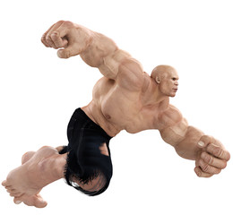 dr muscle running side view