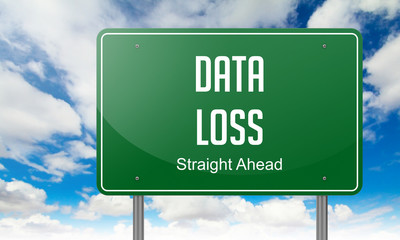 Data Loss on Green Highway Signpost.