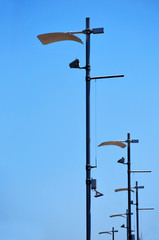 Technological street lamps