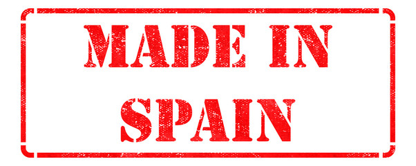 Made in Spain - Red Rubber Stamp.