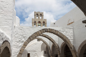 Saint John monastery at Patmos island in Greece