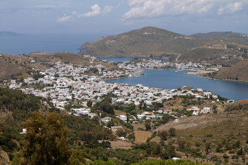 The Scala port at Patmos island in Greece