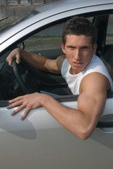 Sexy driver in a car