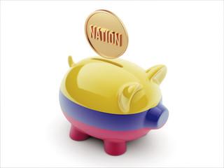 Colombia Nation Concept Piggy Concept