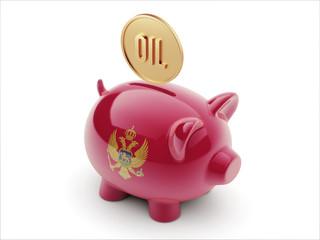 Montenegro. Oil Concept  Piggy Concept
