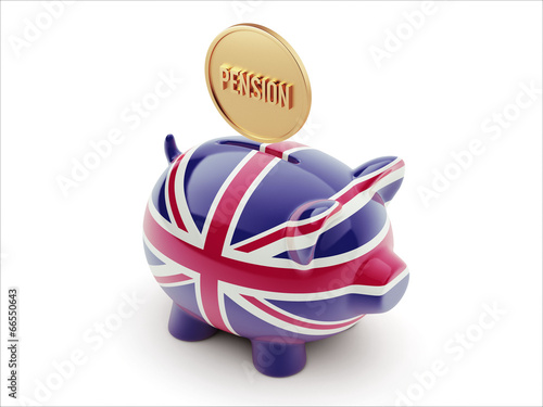United Kingdom Pension Concept Piggy Concept
