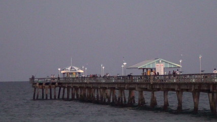 Fishing pier in twilight