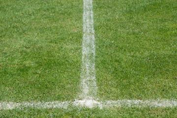 Fußballplatz mit Linienmarkierung