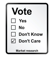 Market Research Vote Sign