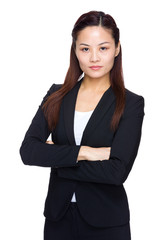 Seroius businesswoman