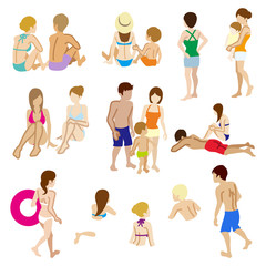 Swimwear people sets,Isolated