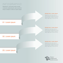 Infographics Vector Background Arrows