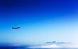 Leinwanddruck Bild - airliner in the stratosphere