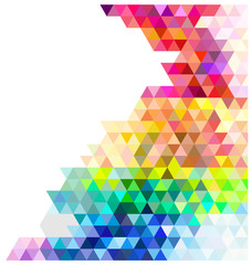 Multicolored mosaic background.