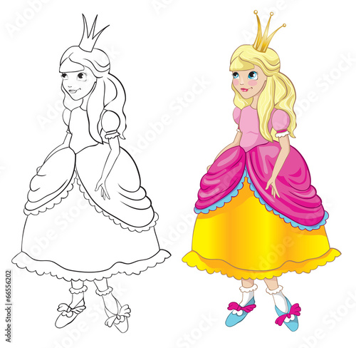 Princess - contour and outline