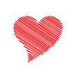 Vector logo scribbled heart, abstract shape
