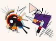 Vector abstract background. Fake framework of Kandinsky #5