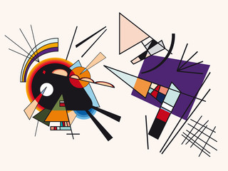 Vector abstract background. Fake framework of Kandinsky #5