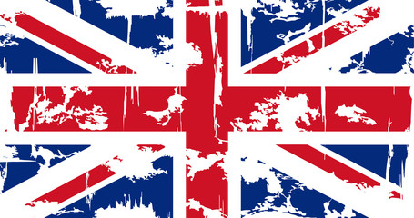 British grunge flag. Vector illustration