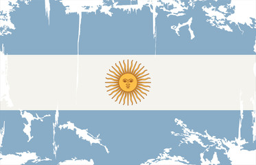 Argentine grunge flag. Vector illustration