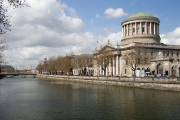 Four Courts and River Liffey in Dublin