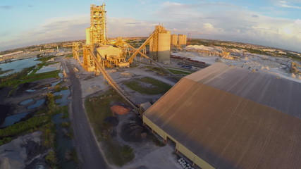Industrial quarry aerial video