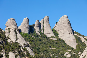 Peaks of the Montserrat Mountains