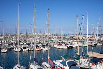 Port Olimpic Marina in Barcelona
