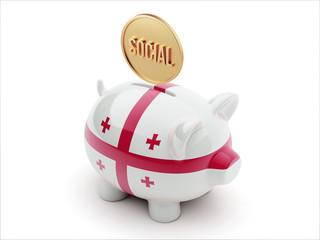 Georgia Social Concept Piggy Concept